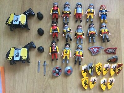 Playmobil Yellow Royal Lion Knights bundle, castle figures playset, accessories