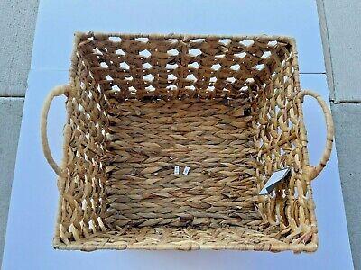 Threshold - *New* Storage Basket Water Hyacinth Handwoven Size Large