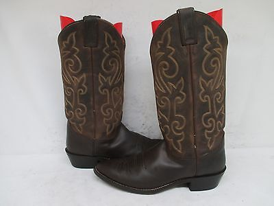 JUSTIN Brown Leather Cowboy Western Boots Mens Size 9 D Style 2253