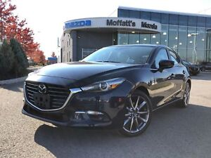 2018 Mazda Mazda3 GT 2.5L, 18 RIMS, HEATED SEATS/WHEEL, BLINDSPO