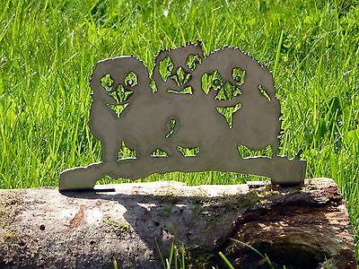 Cut Metal Rusty Baby Owls Bird Garden Home Yard Outdoor Lawn Fence Art Decor