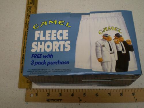 Vintage Camel Cigarette Fleece Shorts Joe Camel Promo One Size New In Box
