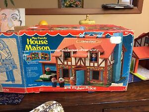 Vintage Fisher Price Little People House in Original Box Strathcona County Edmonton Area image 1
