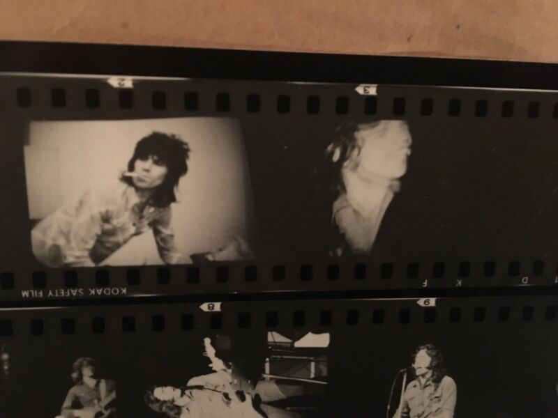 Rolling Stones Photo Rory Gallagher Proof Contact Sheet 1969 Print Rare Jagger