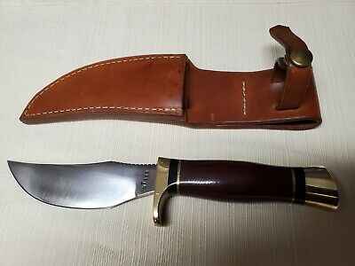 VINTAGE G.W. STONE HUNTING KNIFE (HUNTER) HEAVY DUTY ORIGINAL SHEATH