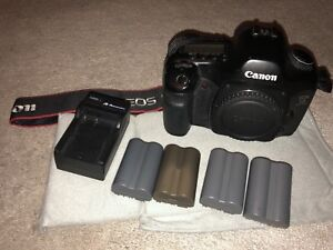 Canon EOS 5D 12.8 MP DSLR camera (Body + batteries/charger)