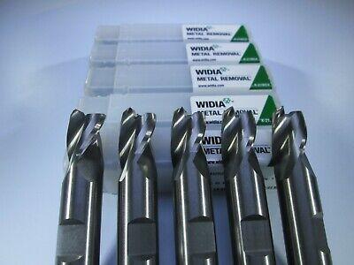 Lot 5 Pcs Widia Carbide 12 End Mills 3 Flute Aluminum Milling Lathe Tools