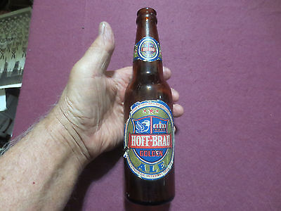 HOFF-BRAU LABELED GLASS BEER BOTTLE-FORT WAYNE INDIANA 1934-51 BOTTOM MARK 34