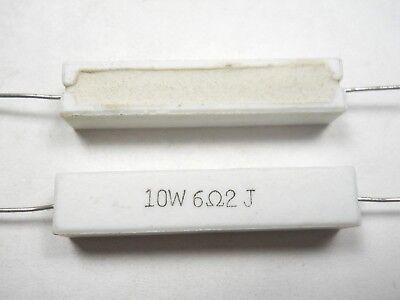 6.2 Ohm 10 Watt 5 Cement Power Resistor Nosnew Old Stockqty 10 Ead4