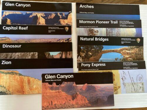 National Park Service Brochures/Utah/Colorado/ Official Maps & Guides (9)