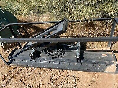 Skidsteer Tmg 94 Hydraulic Angle Dozer Blade Plow Attachment 4 Way Dirt Snow