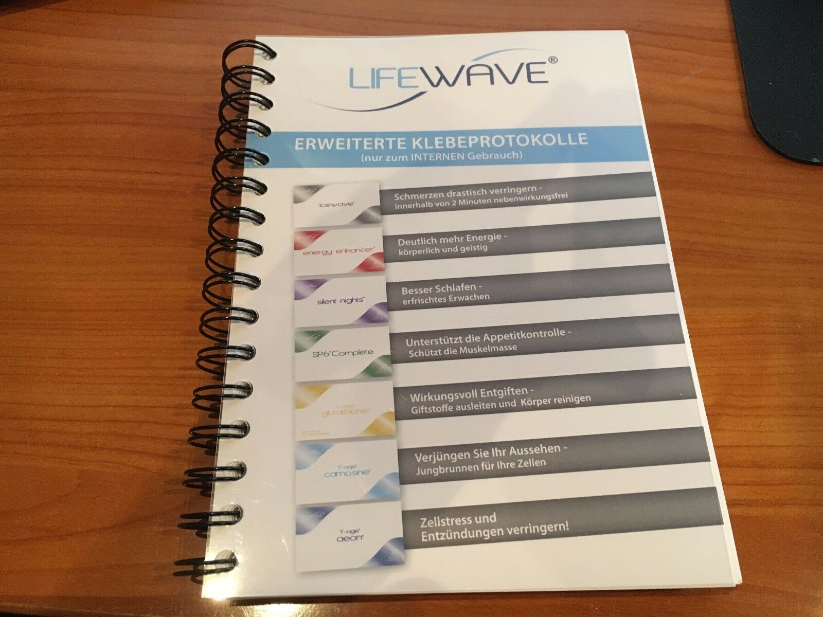 Erweitertes Klebeprotokoll A5 - LifeWave Phototherapiepflaster Lifewave Patches