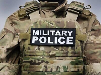 MILITARY POLICE Black 3X8 Hook Back Morale Patch Badge MP US ARMY USMC Air Force