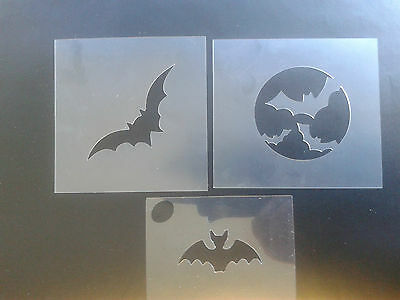 3 x bat face paint stencils  reusable many times  Halloween party