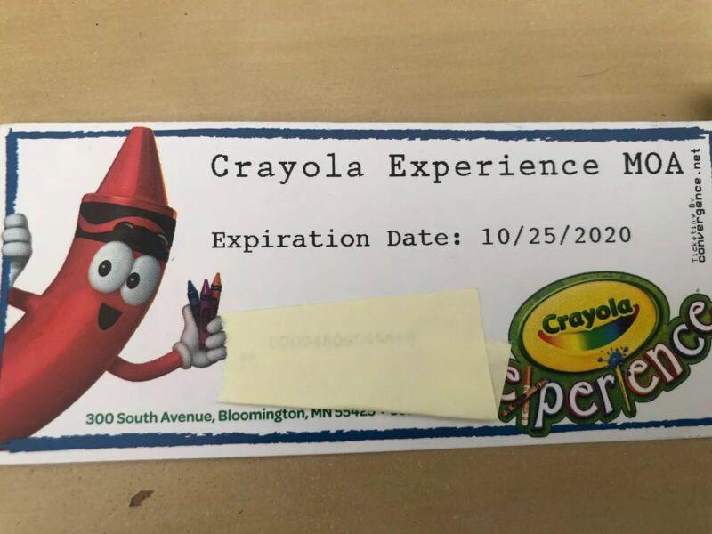 Crayola Experience Mall Of America Tickets