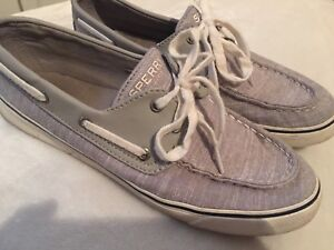 Sperry canvas women's size 9