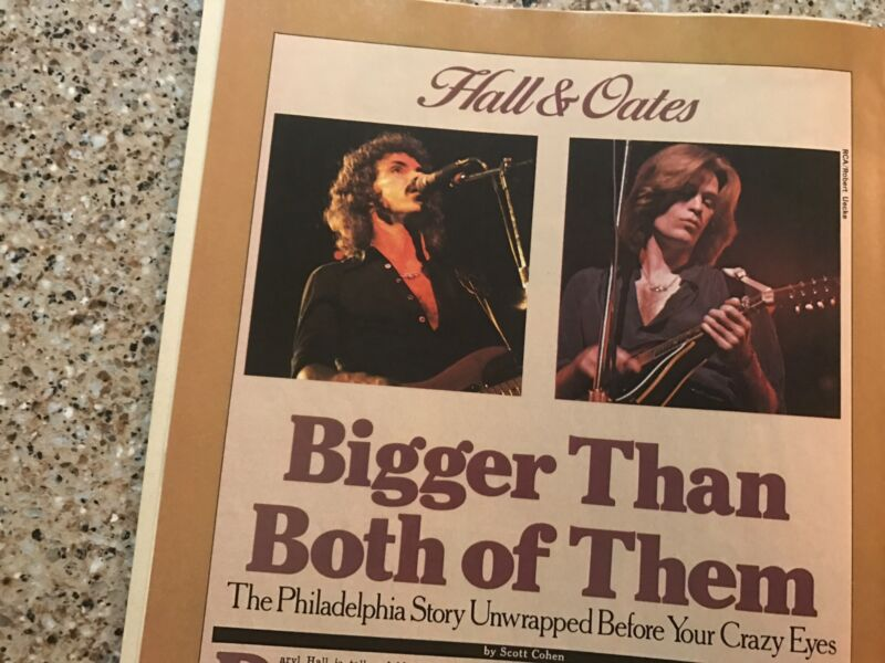 1977 VINTAGE 3PG MAGAZINE PRINT ARTICLE HALL&OATES BIGGER THAN BOTH OF THEM