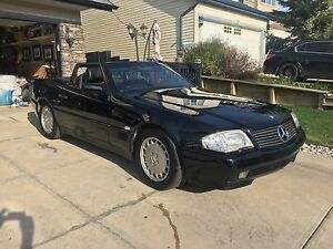 1992 Mercedes 500SL. Loaded, blk on blk.