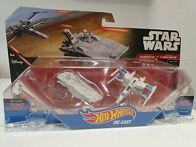 ⭐Star Wars Hot Wheels Starships Transport vs X-Wing Fighter Kids Toy Brand New⭐⭐