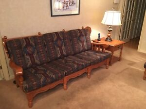 Solid Rock Maple Sofa and Rocking Chair with Ottoman