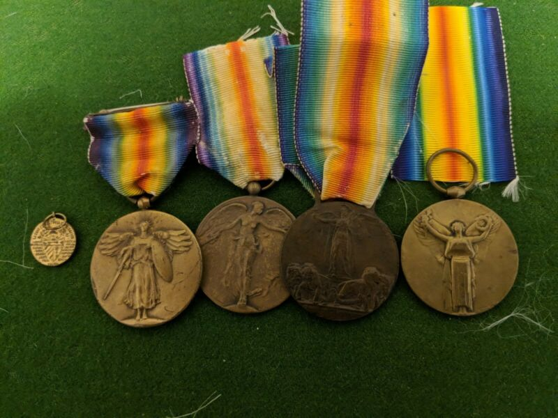 WW1 Allied Victory Medals. Belgian, Cuba  (Mini) France, Italy, UK & USA (6x). M