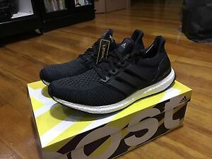 ADIDAS ULTRA BOOST CORE BLACK SHOES SIZE US11.5 BRAND NEW NMD YEEZY DS Burwood Burwood Area Preview