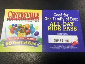 Centreville Family of 4 All day ride pass & admission