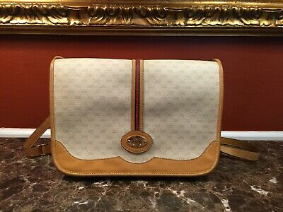 VINTAGE GUCCI OPHIDIA GG SUPREME WEB STRIPE CROSSBODY SHOULDER BAG ITALY
