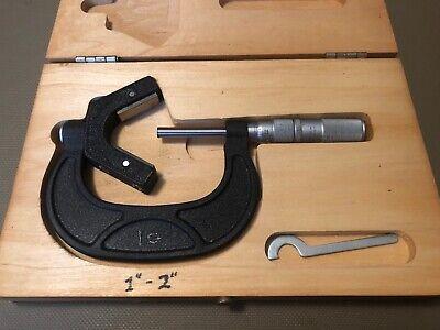 Scherr Tumico Anvil Micrometer 1-2 In Original Wood Box