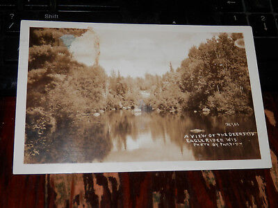 Used, EAGLE RIVER WI 1938 REAL-PHOTO POSTCARD RPPC - VIEW of the DEERSKIN VILAS COUNTY for sale  Spring Mills