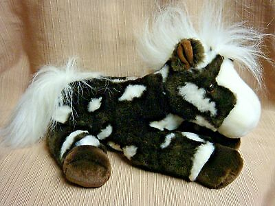 Black & White PLUSH HORSE  Aurora World - SWEET & HUGGABLE