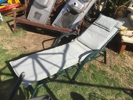 Green Aluminum Sun Lounge