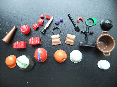 PLAYMOBIL PLAYMOBILE ACCESSORIES HATS HELMETS TOYS TO ADD TO SET NEXT EASTER
