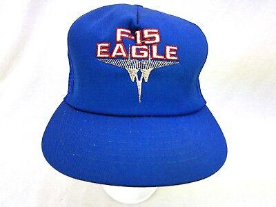 2ed1fa50373e1 Vtg McDonnell Douglas F-15 Eagle Embroidered Mesh Trucker Hat Snapback