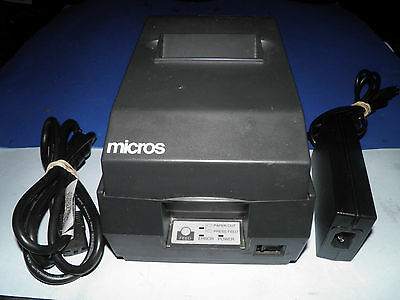Micros Epson Tm-u200b M119b Dot Matrix Pos Receipt Printer Idn W Power Supply