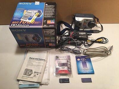 Memory Sticks Digital Cameras - Sony MVC-FD100 Digital Mavica 1.2 megapixel camera & two 128GB memory sticks