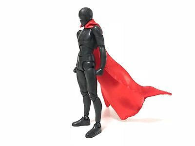 "SU-C-RD: 1/12 Red Wired cape for 6"" SHF Mafex Mattel Hasbro figures (No Figure)"