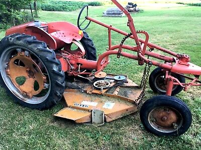 Allis Chalmer G Tractor With Woods Brand 42 Mower Deck