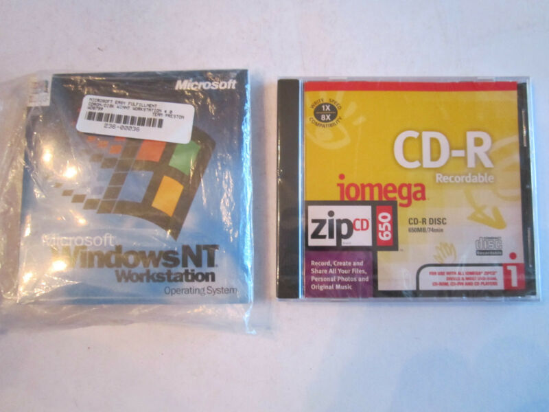 MICROSOFT WINDOWS NT WORKSTATION OPERATING SYSTEM & IOMEGA CD-R RECORDABLE DISC