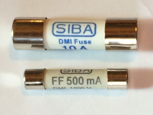 US SHIP  FF500MA 0.5A 1000V SIBA & F10A 10A 1000V SIBA Fuse 5019906 & 7017240