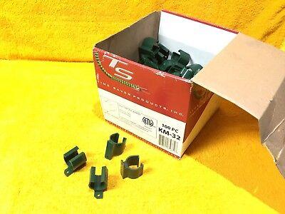 New Box Of 100 Time Saver Products Km-32 1 Emt Pvc Rigid Flex Snap Straps