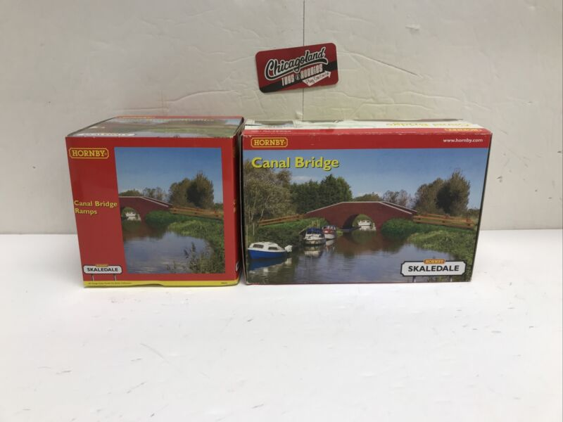 Hornby Skaledale R8569 & R8606 OO Canal Bridge and Ramps