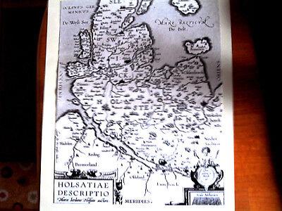 Schleswig-Holstein Karte 1898 mit historischen Ortsangaben