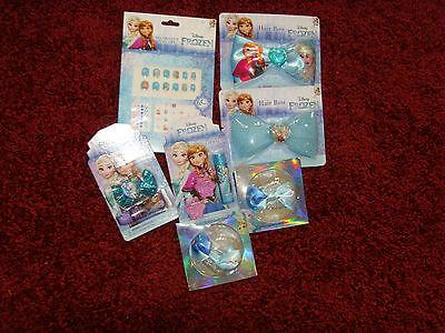 NEW Beauty Lot Disney Frozen Anna Elsa gift items bows lipbalm gloss clips nails](Elsa Frozen Items)