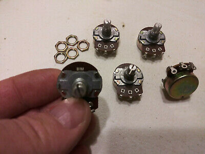 5 1-meg Potentiometer Split Shaft Linear X5 Quantity