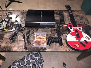 Ps3 with all hookups and 1 guitar with dongle