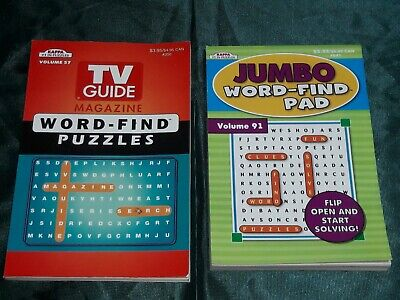 Lot of 2 KAPPA Large Print Word Search Find Hunt Puzzle Books - TV Guide & Jumbo