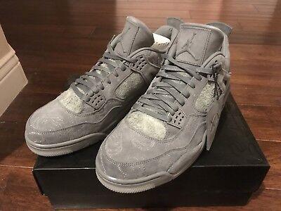 Nike Air Jordan 4 IV Retro KAWS SZ 11.5 Cool Grey Suede Glow In Dark 930155-003