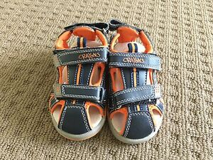 Boys Crayons Sandals Size 7 Cameron Park Lake Macquarie Area Preview