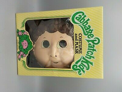 Unused Vtg1983 Cabbage Patch Doll Kids Halloween Costume Ben Cooper Mask Small